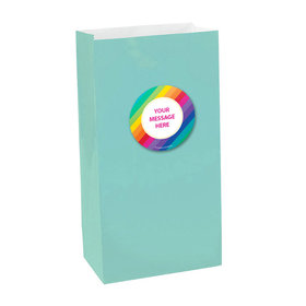 Rainbow Birthday Personalized Paper Favor Bags (set of 12)