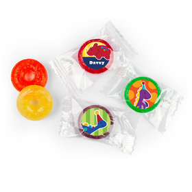 Personalized Birthday Dinosaurs & Balloons Life Savers 5 Flavor Hard Candy