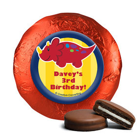 Personalized Birthday Dinosaurs & Balloons Chocolate Covered Oreos