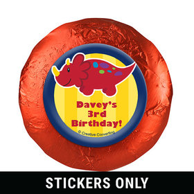 """Personalized Birthday Dinosaurs & Balloons 1.25"""" Stickers (48 Stickers)"""