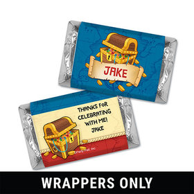 Personalized Birthday Pirates Miniatures Wrappers