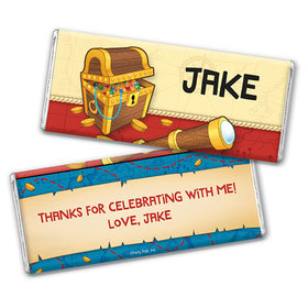 Personalized Birthday Pirates Chocolate Bar Wrappers