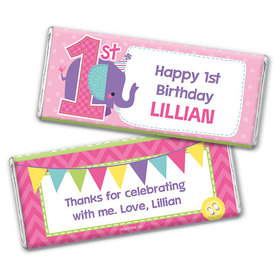 Personalized Birthday Elephant Chocolate Bar & Wrapper