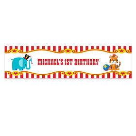 Personalized Circus Theme Birthday Banner