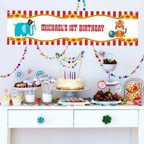 Personalized Circus Theme Birthday 5 Ft. Banner
