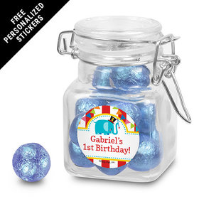 Birthday Personalized Latch Jar Circus 1st Birthday (12 Pack)
