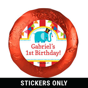 "Personalized Birthday Circus 1.25"" Stickers (48 Stickers)"