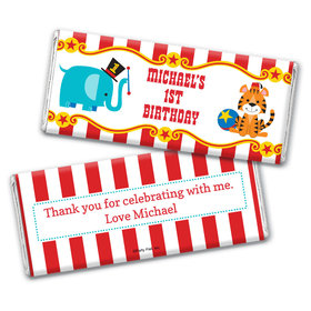 Personalized Birthday Circus Chocolate Bar Wrappers