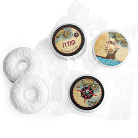 Personalized Birthday Pirate Map Life Savers Mints