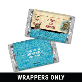 Personalized Birthday Pirate Map Miniatures Wrappers