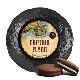 Personalized Birthday Pirate Map Milk Chocolate Covered Oreos (24 Pack)