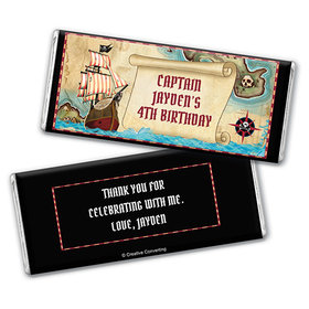 Personalized Birthday Pirate Map Chocolate Bar Wrappers
