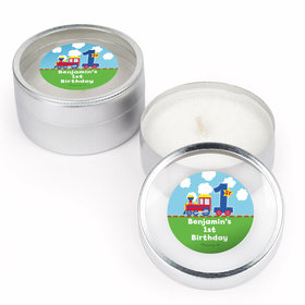 All Aboard First Birthday Personalized Candle (Set of 12)