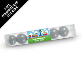 Birthday Personalized Gumball Tube Train 1st Birthday (12 Pack)