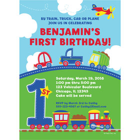 All Aboard First Birthday Personalized Invitation