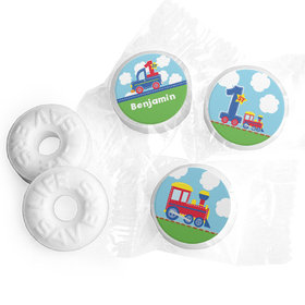 Personalized First Birthday Train Life Savers Mints