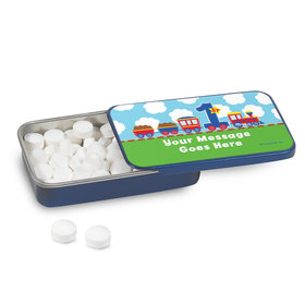 All Aboard First Birthday Personalized Mint Tin (12 Pack)