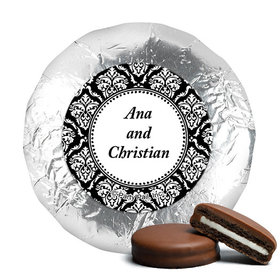 Personalized Wedding Demask Milk Chocolate Covered Oreos (24 Pack)
