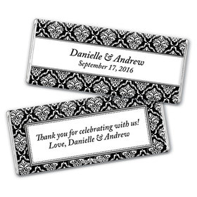 Personalized Wedding Demask Chocolate Bar & Wrapper