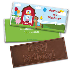 Personalized Birthday Farmhouse Embossed Happy Birthday Chocolate Bar