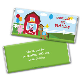 Personalized Birthday Farmhouse Chocolate Bar Wrappers