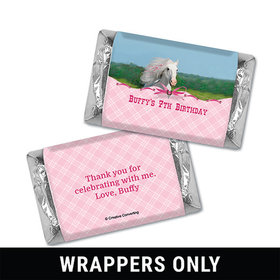 Personalized Birthday Horse Miniatures Wrappers