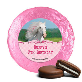 Personalized Birthday Horse Milk Chocolate Covered Oreos