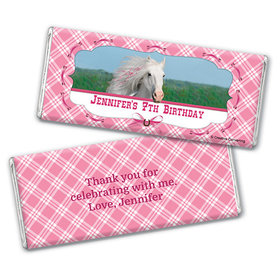 Personalized Birthday Horse Chocolate Bar Wrappers