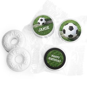 Personalized Birthday Soccer Balls Life Savers Mints