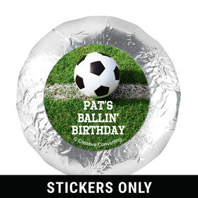 "Personalized Birthday Soccer Balls 1.25"" Stickers (48 Stickers)"
