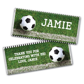 Personalized Birthday Soccer Balls Chocolate Bar Wrappers