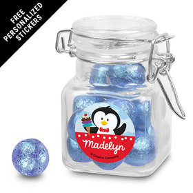 Birthday Personalized Latch Jar Penguin 1st Birthday (12 Pack)