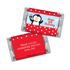 Personalized Birthday Penguin Hershey's Miniatures