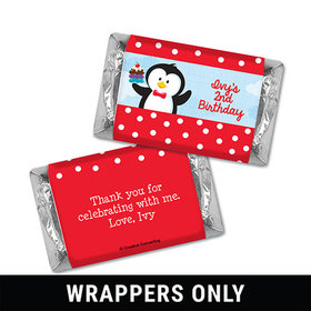 Personalized Birthday Penguin Miniatures Wrappers