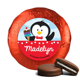 Personalized Birthday Penguin Chocolate Covered Oreos