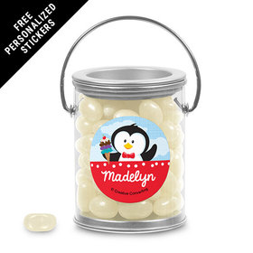 Birthday Personalized Paint Can Penguin 1st Birthday (25 Pack)
