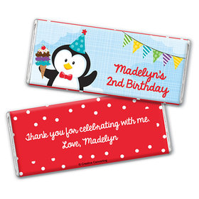 Personalized Birthday Penguin Chocolate Bar & Wrapper