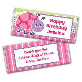 Personalized Birthday Colorful Lady Bug Chocolate Bar & Wrapper