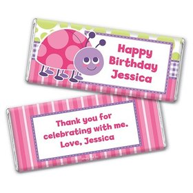 Personalized Birthday Colorful Lady Bug Chocolate Bar Wrappers