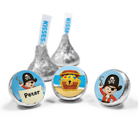 Personalized Birthday Pirate Party Hershey's Kisses (50 Pack)