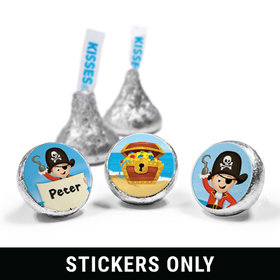 """Personalized Birthday Pirate Party 3/4"""" Sticker (108 Stickers)"""
