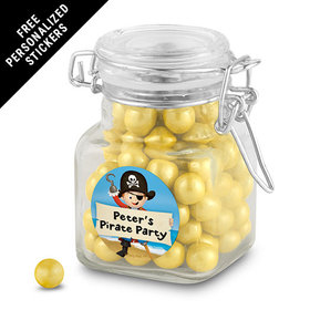 Birthday Personalized Latch Jar Pirate Theme (12 Pack)