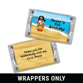 Personalized Birthday Pirate Party Miniatures Wrappers