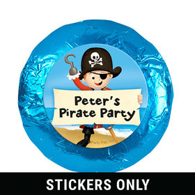 """Personalized Birthday Pirate Party 1.25"""" Stickers (48 Stickers)"""
