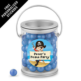 Birthday Personalized Paint Can Pirate Theme (25 Pack)