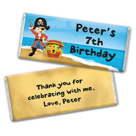 Personalized Birthday Pirate Party Chocolate Bar Wrappers