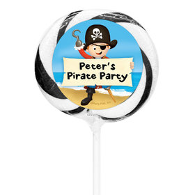 """Birthday Personalized 3"""" Whirly Pop Pirate Theme (24 Pack)"""