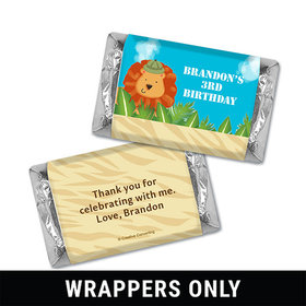 Personalized Birthday Safari Miniatures Wrappers