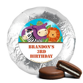 Personalized Birthday Safari Milk Chocolate Covered Oreos (24 Pack)