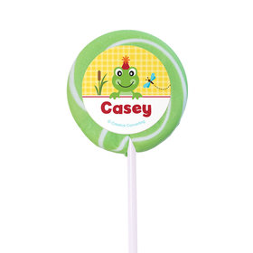 Birthday Personalized Small Swirly Pop Frog Pond (24 Pack)